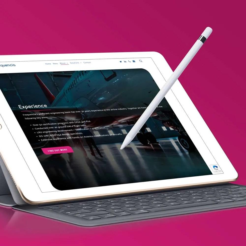 corporate website design inspiration frequncia ltd author studios ipad pro