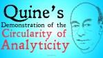 willard van orman quine analyticity