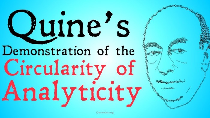 willard van orman quine analyticity