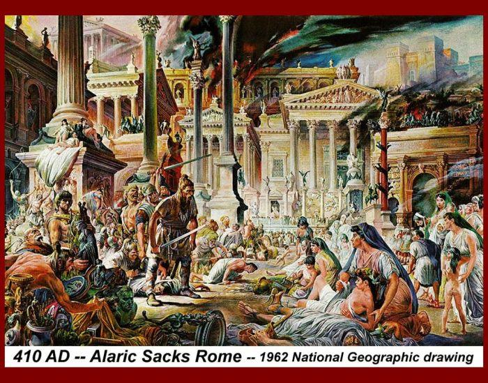 alaric sack of rome painting