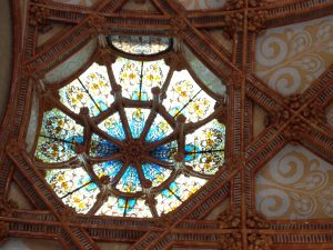 One of the stained glass domes