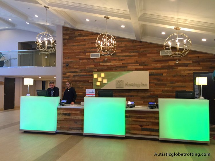 Our Family Stay at the Holiday Inn Buena Park lobby