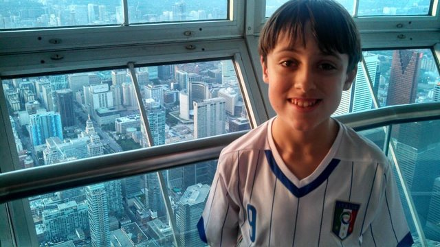 Colin Brennan -Canadian Singer and Autism Inspiration tower view