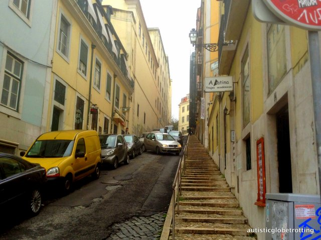 Taking Kids with Autism to Lisbon Portugal alley