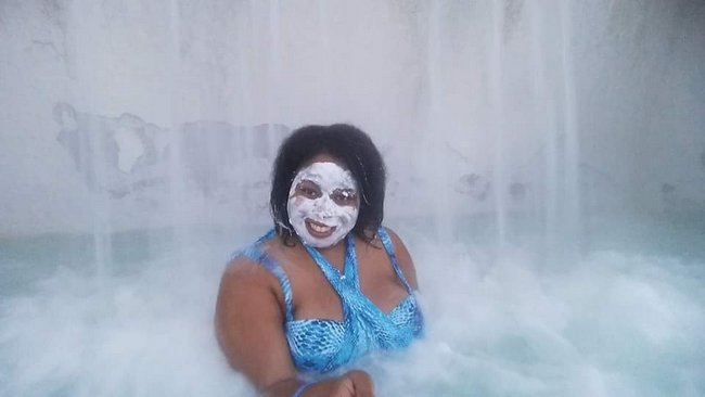 Q&A with Shalese Nicole Heard of Autistic Travel Goddess mask