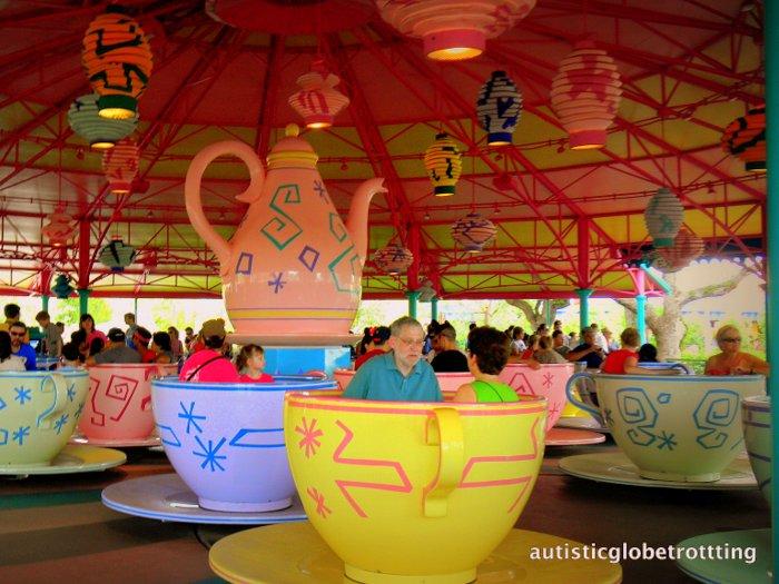 Fourteen Tips For Preventing Sensory Meltdowns at Disney World teacups