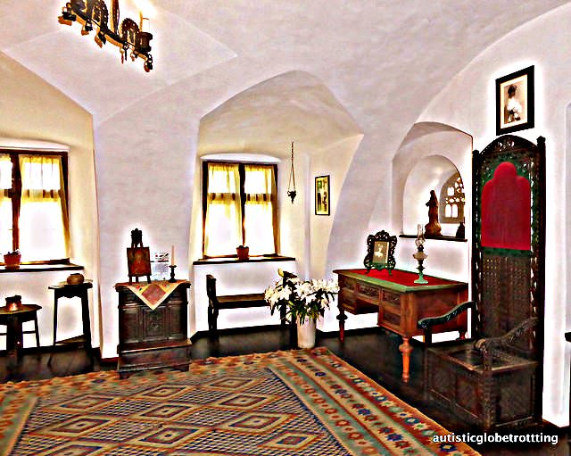 Taking the Kids to Dracula's Castle living room