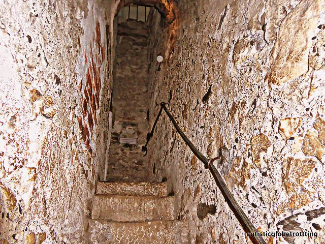 Taking the Kids to Dracula's Castle stairs