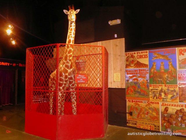 Family Fun at Baraboo's Circus World Museum giraffe