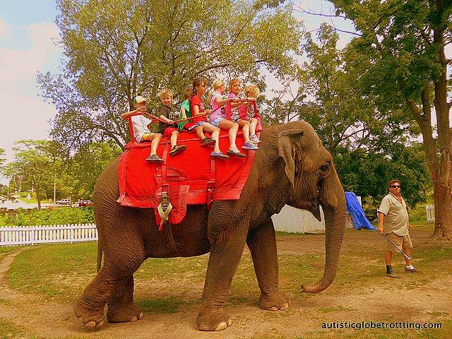 Family Fun at Baraboo's Circus World Museum elephant