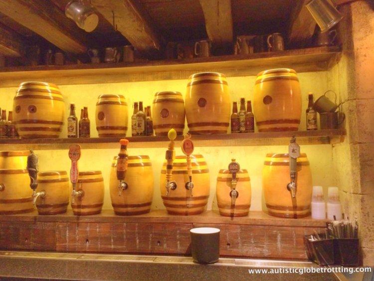 7 Ways to Enjoy Butterbeer at Universal Studios Orlando barrles