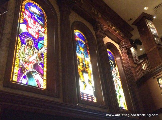 Orlando Hard Rock Café's Behind the Scenes Tour windows