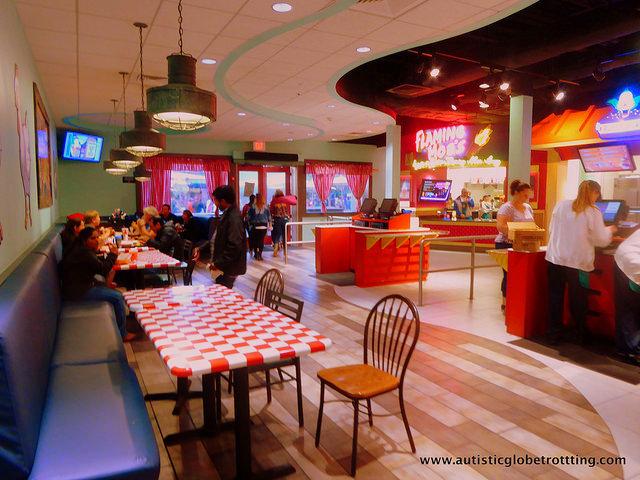 Navigating Universal Studios Orlando with Autism restaurant