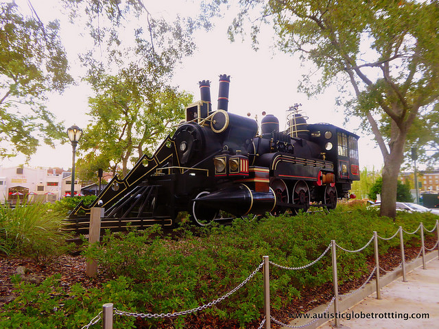 Navigating Universal Studios Orlando with Autism train