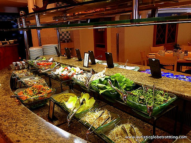 Luxury Family Stay at the Hilton Tel Aviv buffet
