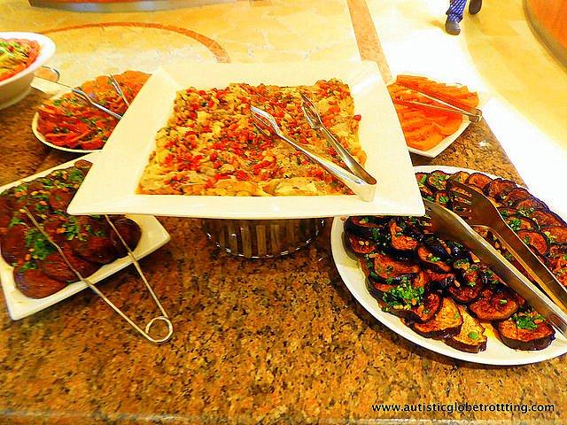 Luxury Family Stay at the Hilton Tel Aviv food