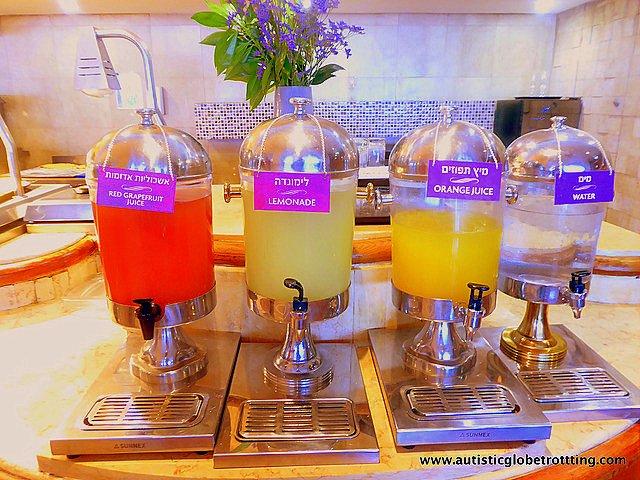 Family Fun at the Crowne Plaza Tel Aviv Beach Hotel juice