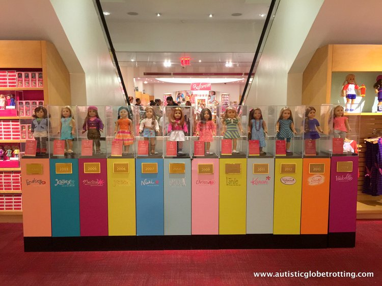 Top Five Kid Friendly Stores in NYC Times Square dolls