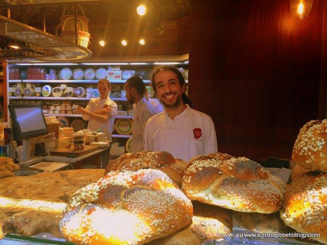 Exploring Tel Aviv's New Food Market Sarona with Family bread