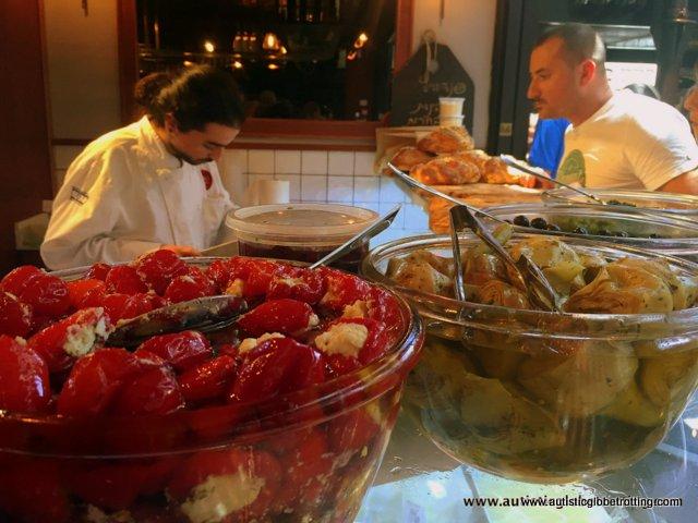 Exploring Tel Aviv's New Food Market Sarona with Family color