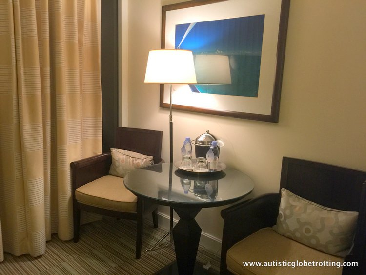 Staying with Family at Hilton Fort Lauderdale Marina seating