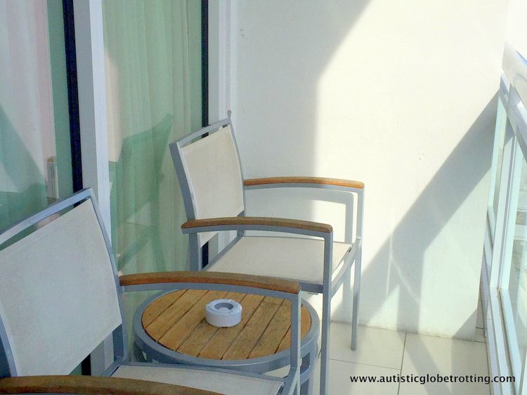 Staying with Family at Hilton Fort Lauderdale Marina chair