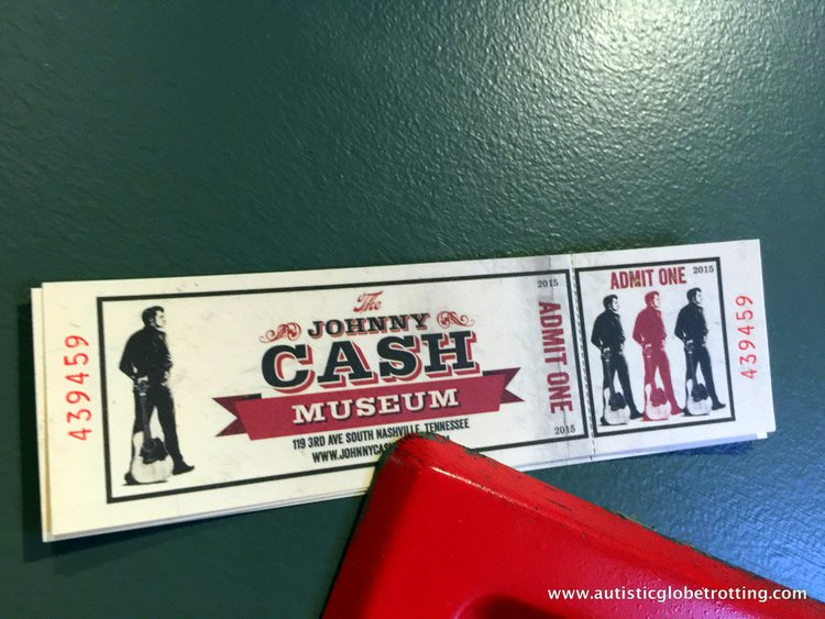 the Johnny Cash Museum entry ticket