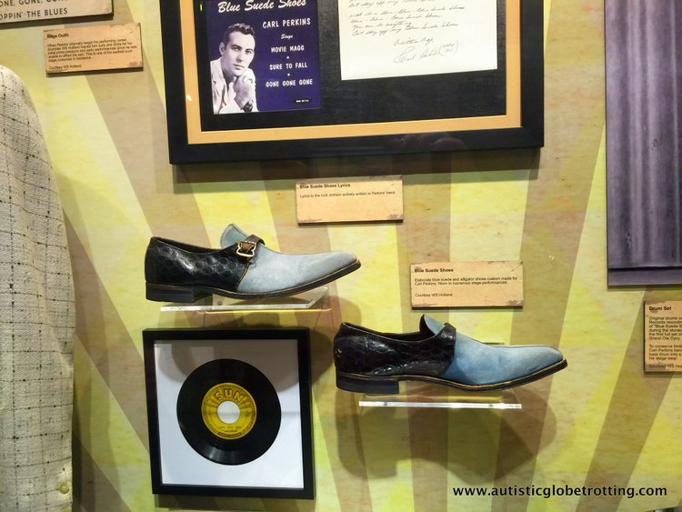 the Johnny Cash Museum shoes