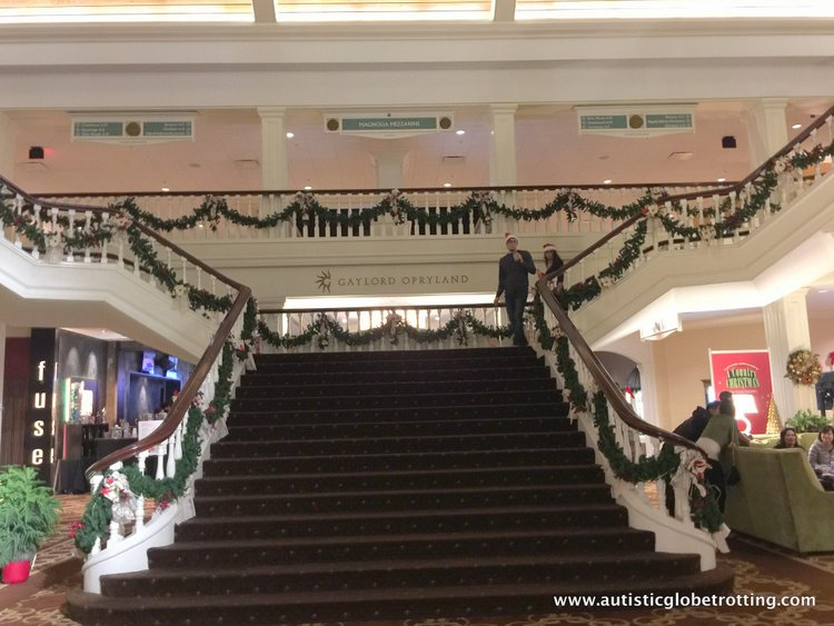 Christmas Stay at the Gaylord Opryland Hotel stair