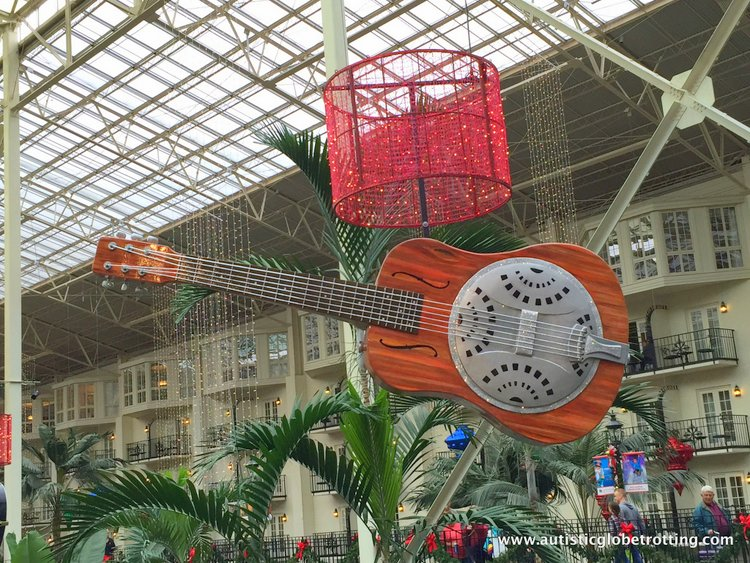 Christmas Stay at the Gaylord Opryland Hotel guitar