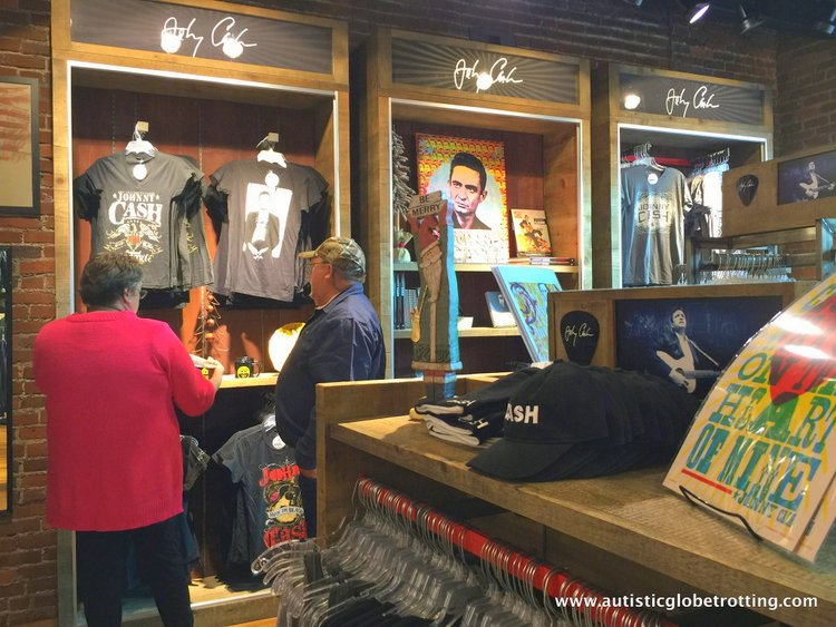 the Johnny Cash Museum artifacts cash musrum
