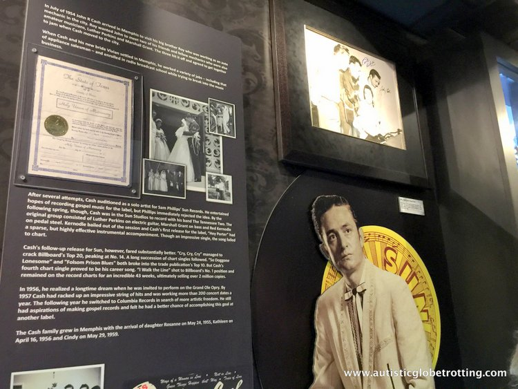 the Johnny Cash Museum johnny with a yellow hat
