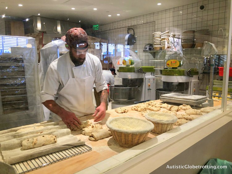 Exploring Eataly in Los Angeles with Autism watch pasta made