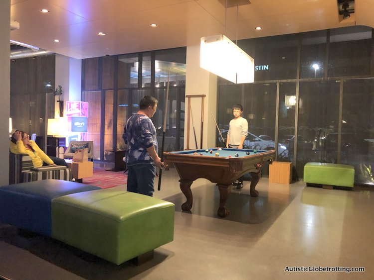 Family Fun Stay at the Aloft San Francisco Airport free entertainment with pool tables