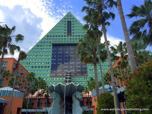 Family Friendly Stay at the Walt Disney World Dolphin Hotel pyramid