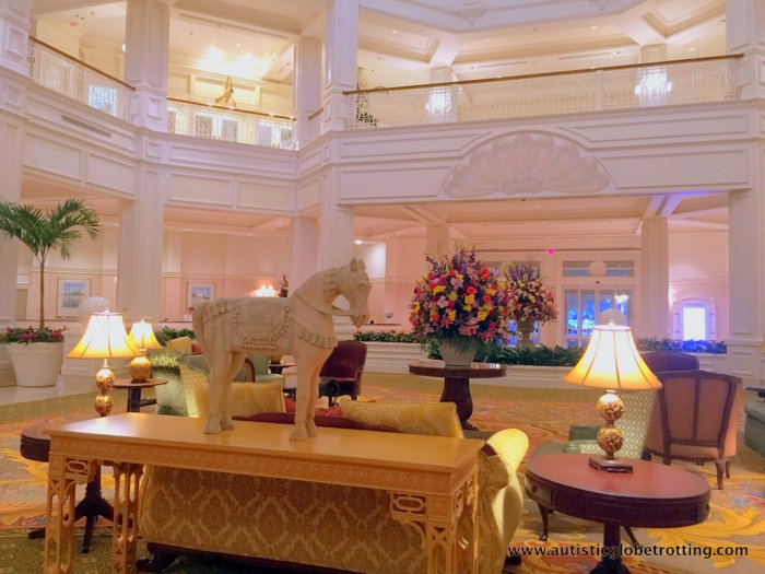 Our Family Stay at Disney's Grand Floridian lobby