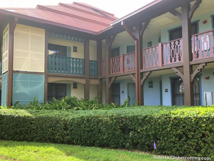 Disney Coronado Springs Resort Tips for Families buildings in casita eight