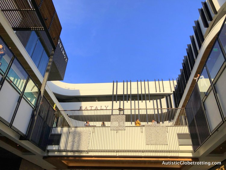 Exploring Eataly in Los Angeles with Autism entrance