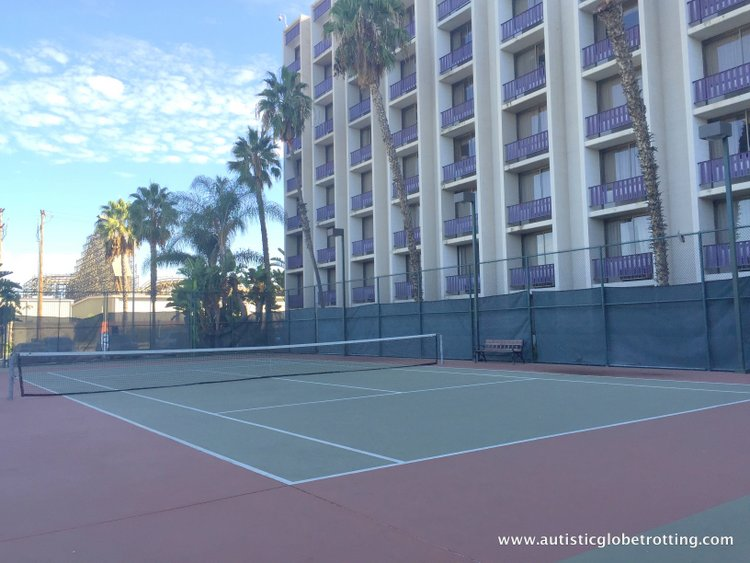 The Knott's BerryFarm Hotel is great for Families court