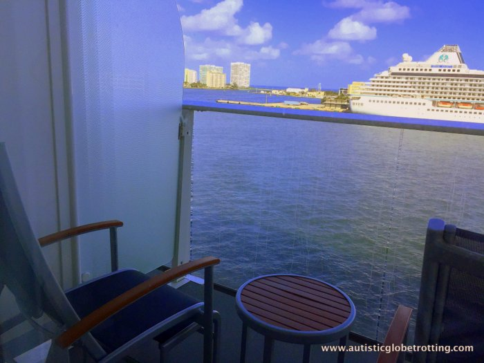 Our Cabin on Harmony of the Seas balcony
