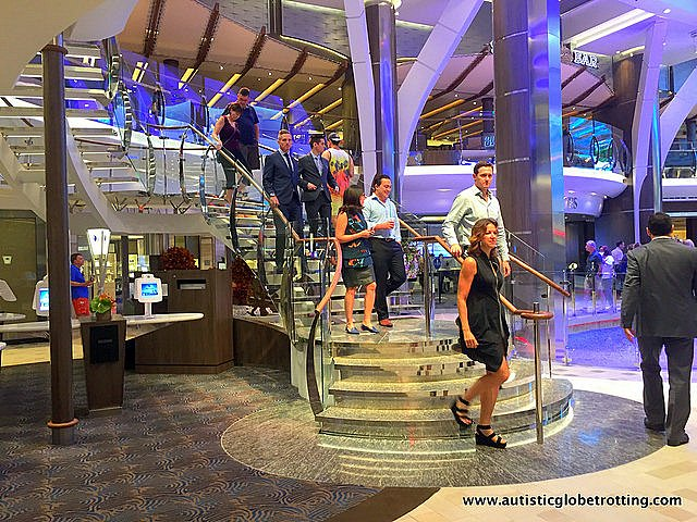 The Autism Friendly Harmony of the Seas stairs