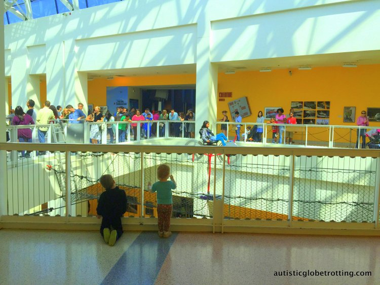 Exploring the California Science Center with Kids bike