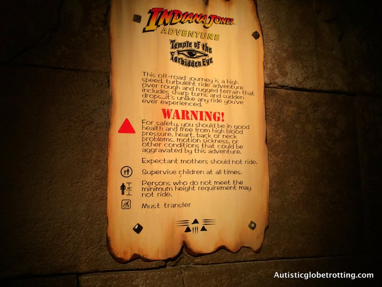 Eight Best Disneyland Thrill Rides for Kids with Autism indiana jones entrance sign