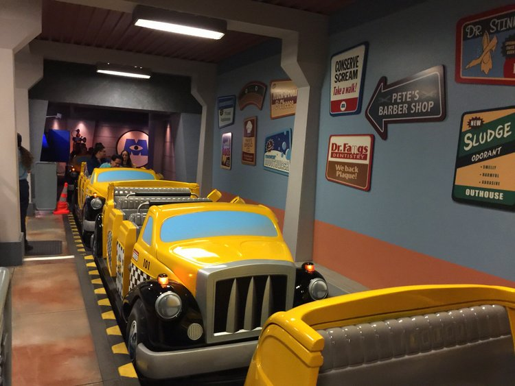 Disneyland's Top Indoor Autism Friendly Rides and Attractions monsters taxi