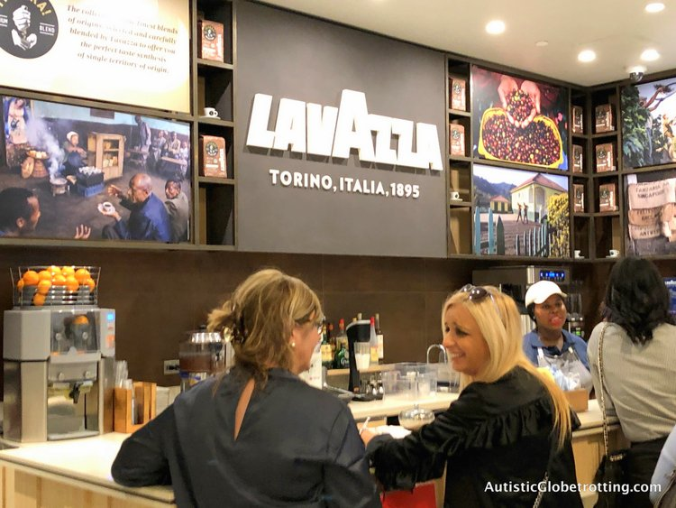 Exploring Eataly in Los Angeles with Autism smell the coffee