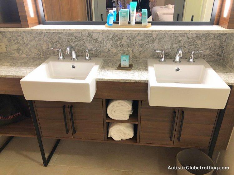 Disney Coronado Springs Resort Tips for Families vanity area