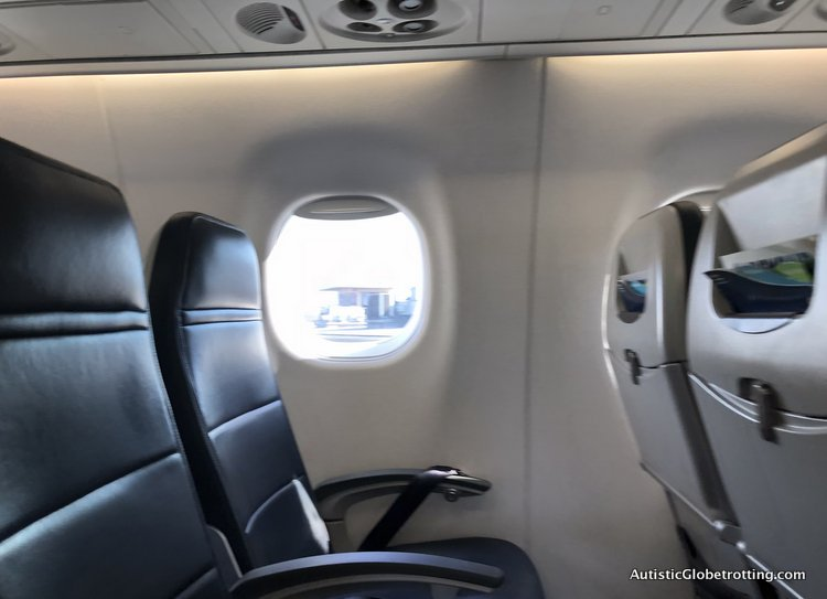 Alaska Airlines Exceeds Expectations Despite a 2 Hour Delay window seats with large window
