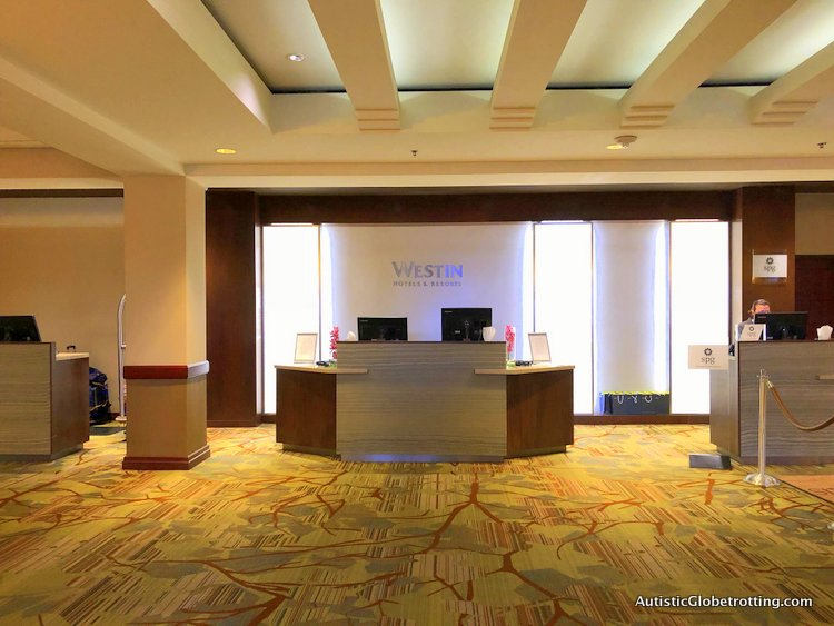Our Family Friendly stay at the Westin San Francisco Airport Hotel desk
