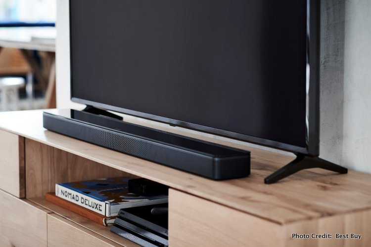 The Bose Home, Soundbar and Bass Module @BestBuy is the Perfect Family Gift thin sound bar