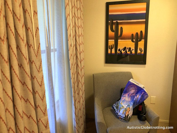 Disney Coronado Springs Resort Tips for Families arm chair by the window
